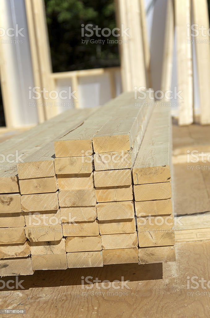 Lumber on Construction Site royalty-free stock photo