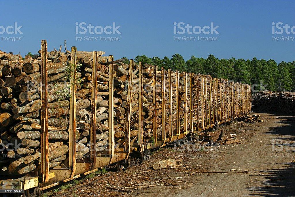 Lumber Rail royalty-free stock photo