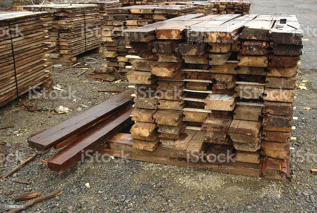 Lumber Salvage royalty-free stock photo