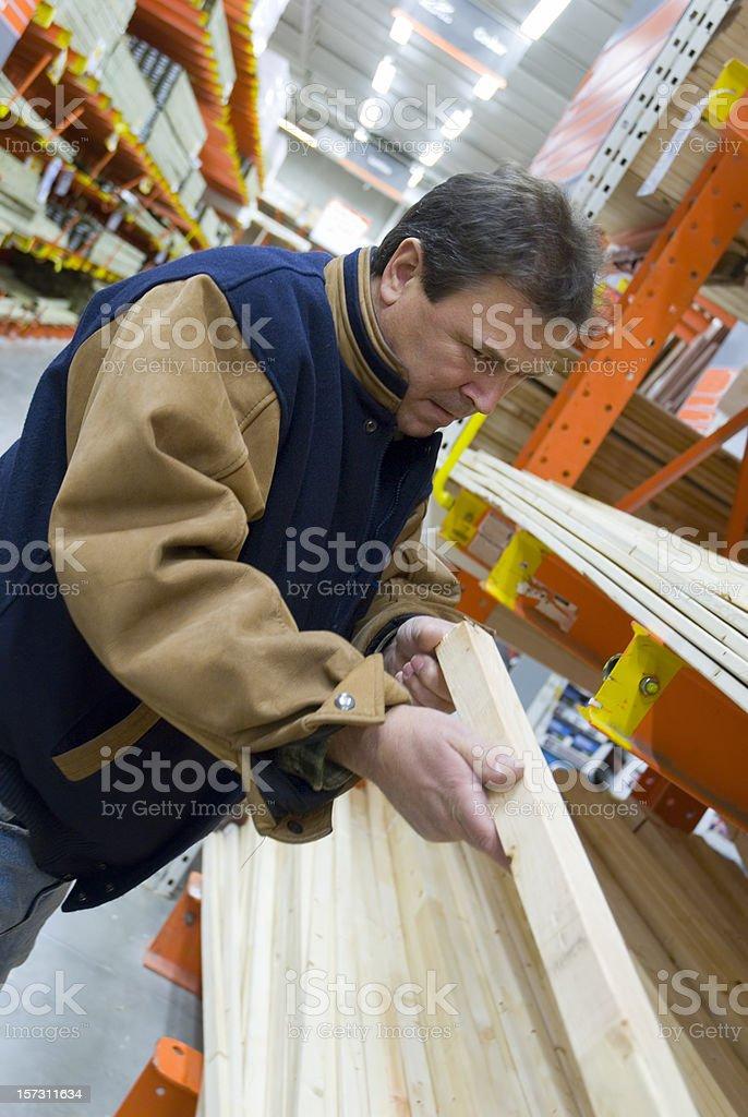 Lumber shopping royalty-free stock photo