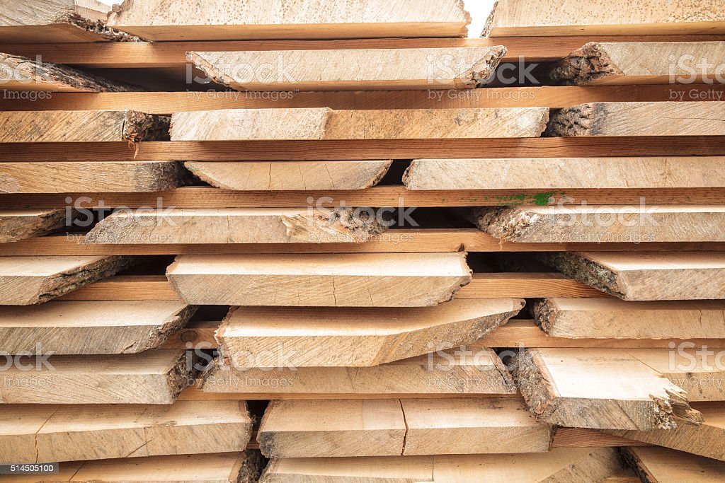lumber stack boards stock photo