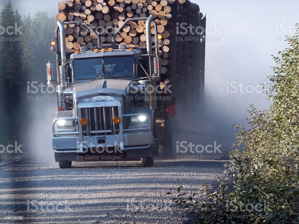 Lumber Transport stock photo