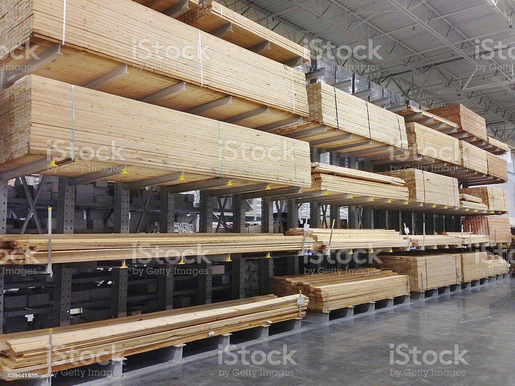 Lumber warehouse stock photo