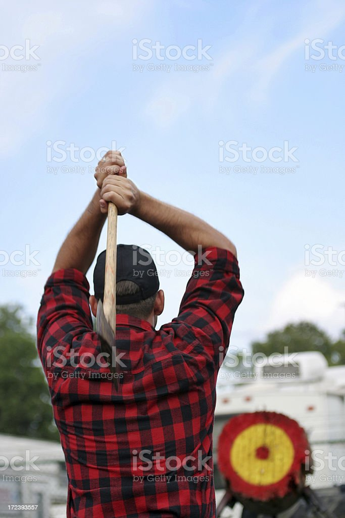 Lumberjack Competition stock photo