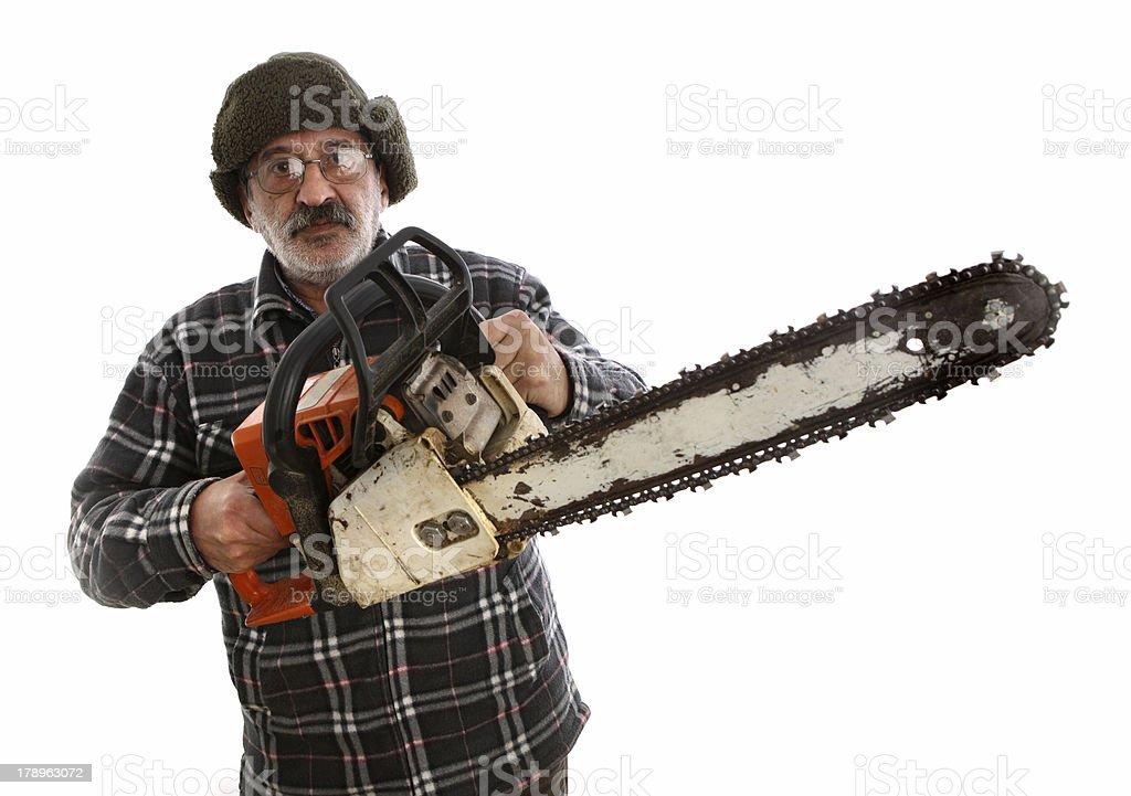 lumberjack royalty-free stock photo