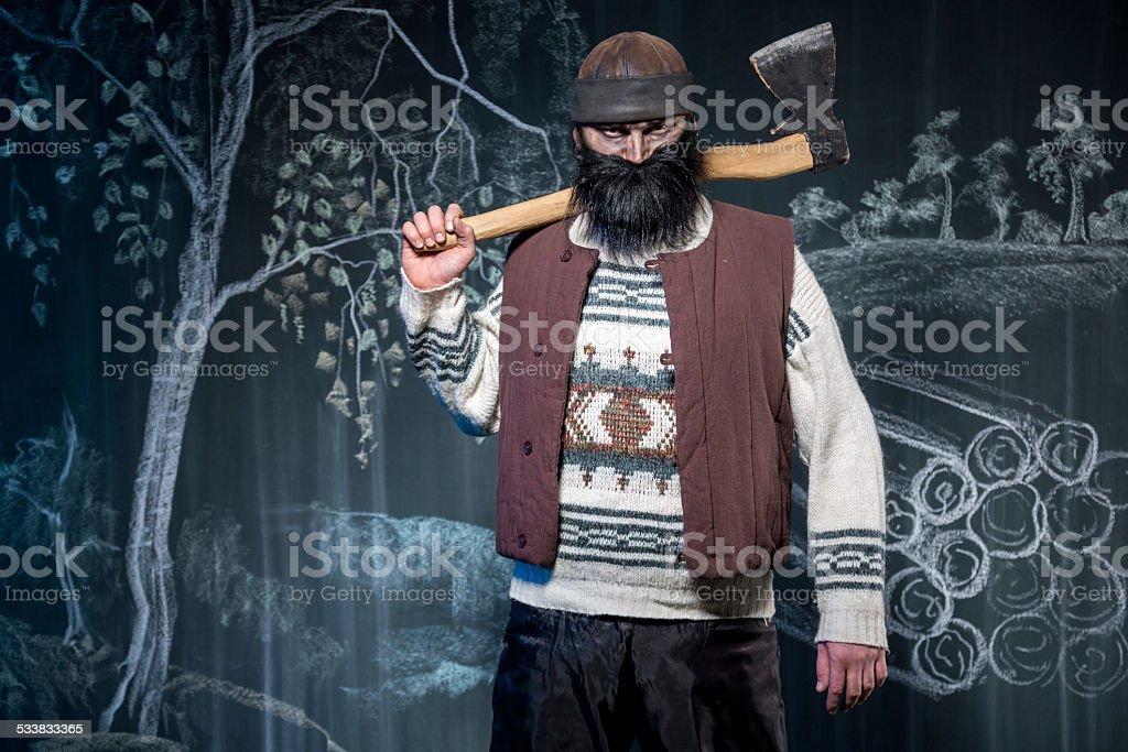 Lumberman Blackbeard stock photo