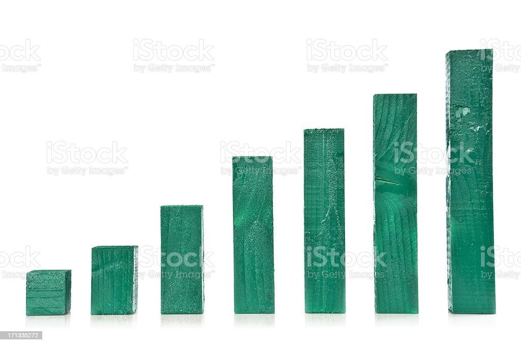 Lumbers like a graph stock photo