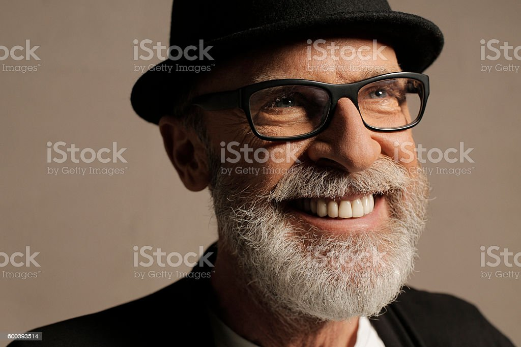 Lumbersexual  Bearded  Senior men hipster  Portrait  Frano Lasic stock photo
