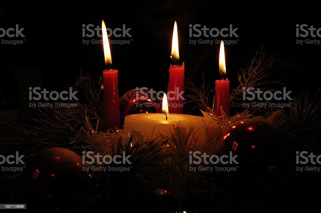 lume di candela stock photo
