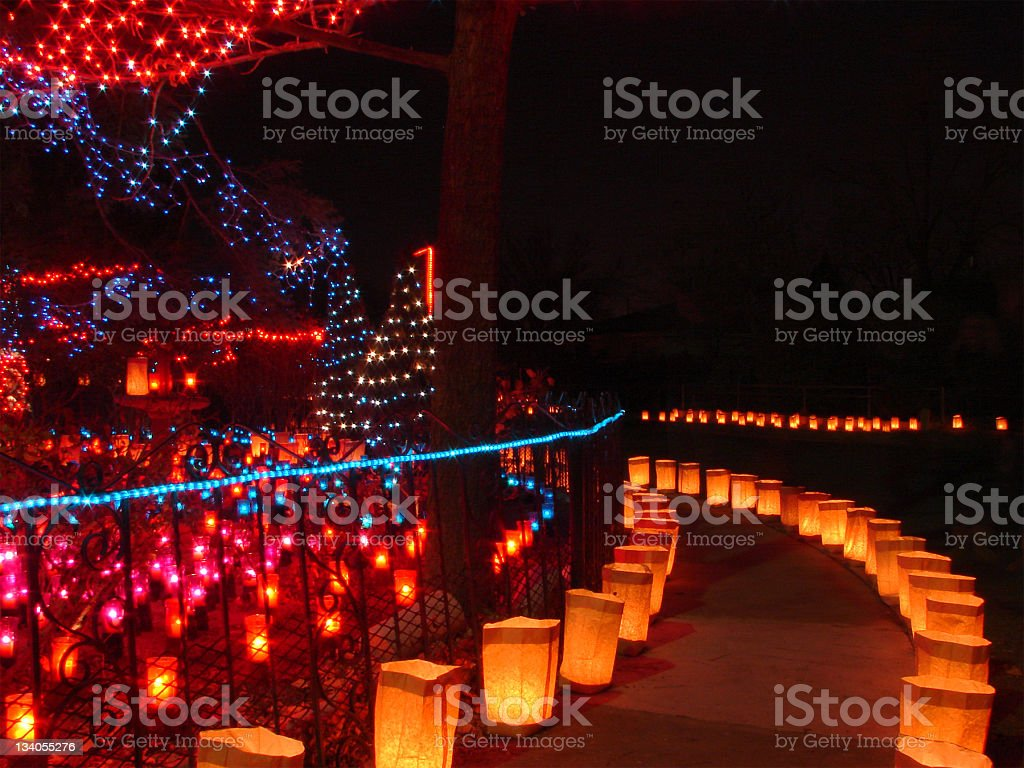 Luminarias and Candles royalty-free stock photo