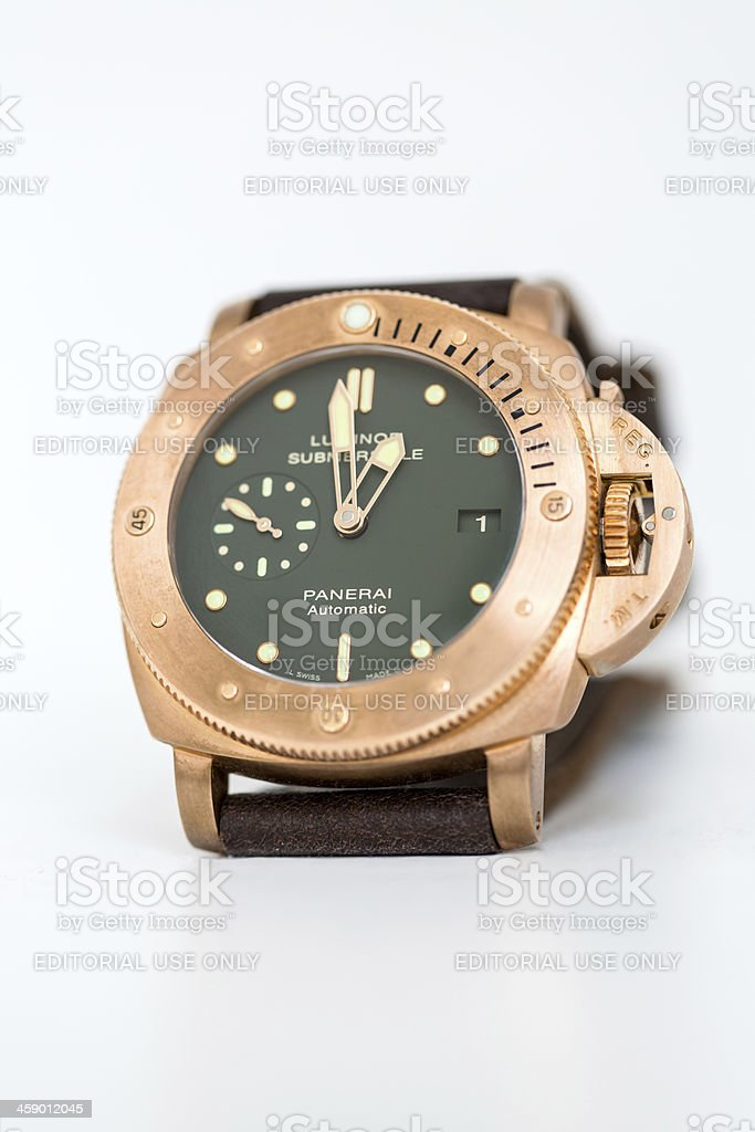 PANERAI Luminor Submersible PAM382 BRONZO stock photo