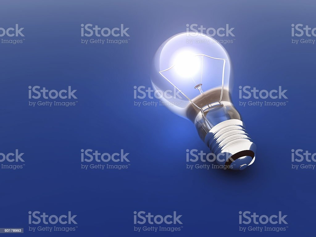luminous bulb royalty-free stock photo