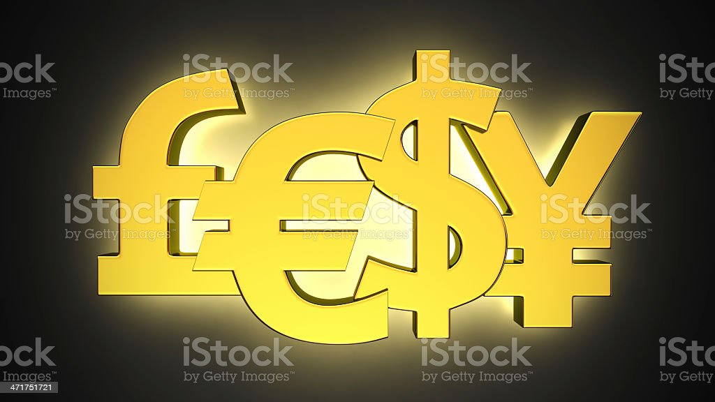Luminous Currencies stock photo