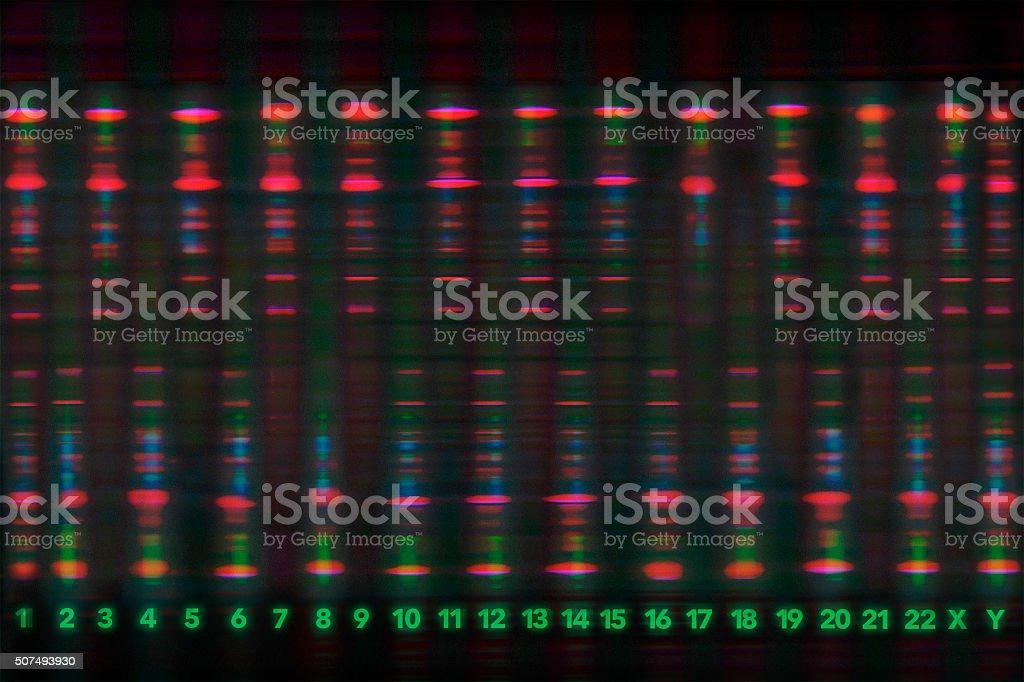 Luminous DNA Sequence stock photo