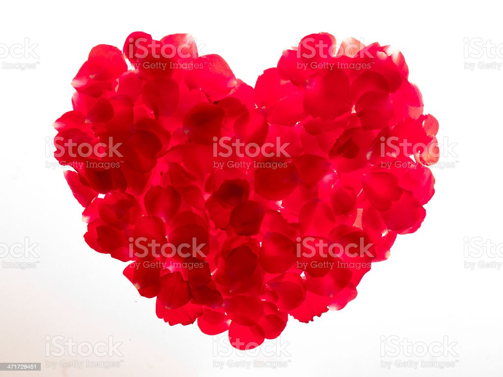 luminous heart of rose leaves royalty-free stock photo