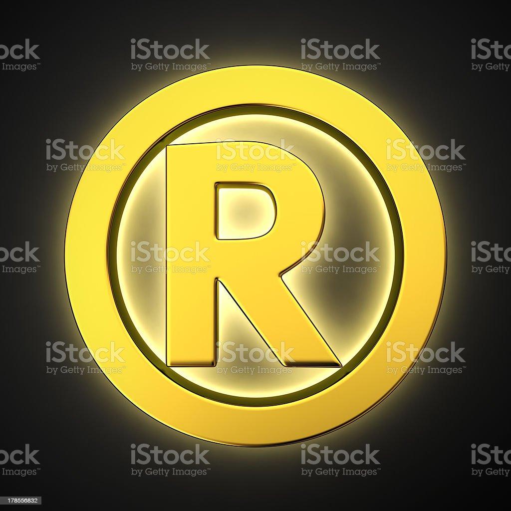 Luminous Registered sign royalty-free stock photo