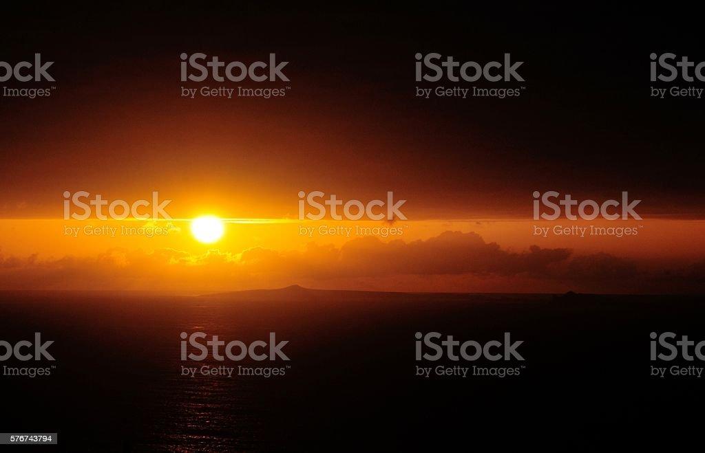 Luminous sunset stock photo