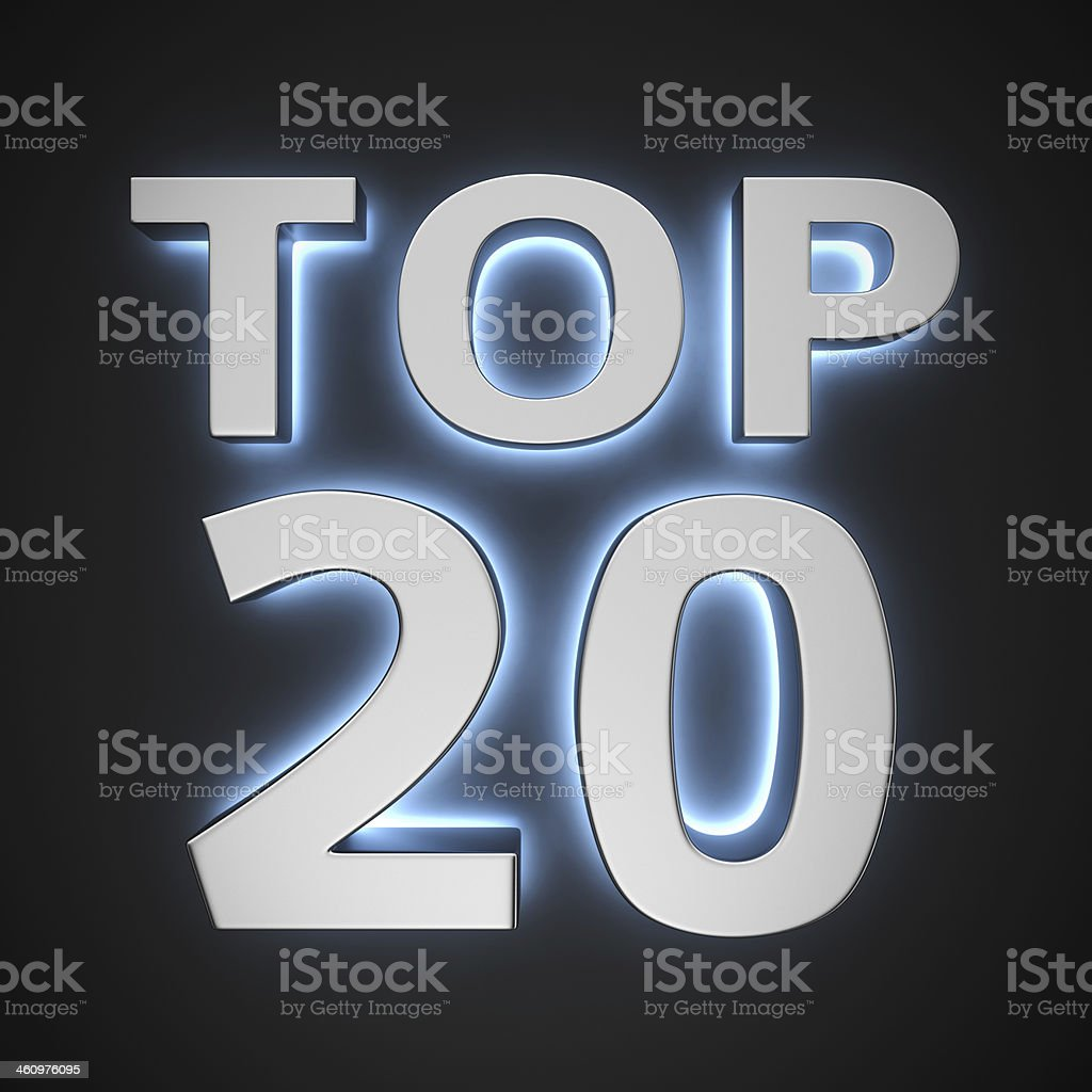 Luminous Top 20 stock photo