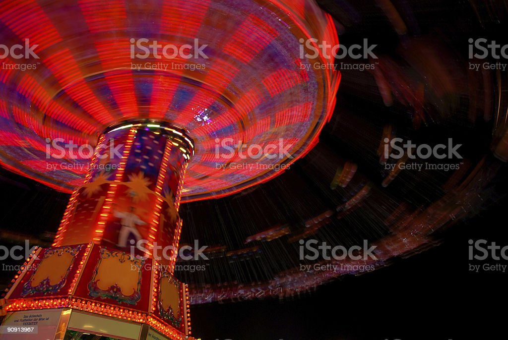 Luminous very fast carousel royalty-free stock photo