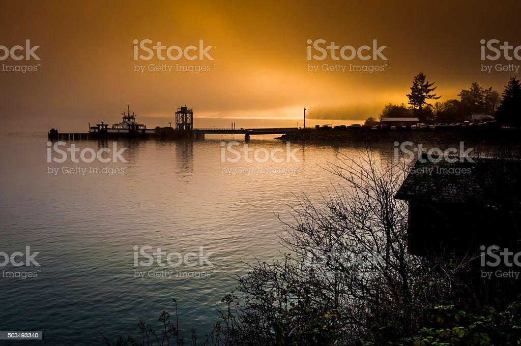 Lummi Island Ferry stock photo