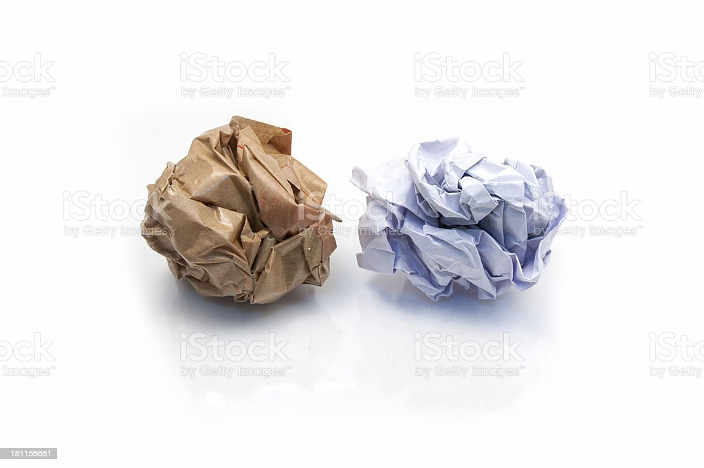 Lump crumpled paper royalty-free stock photo