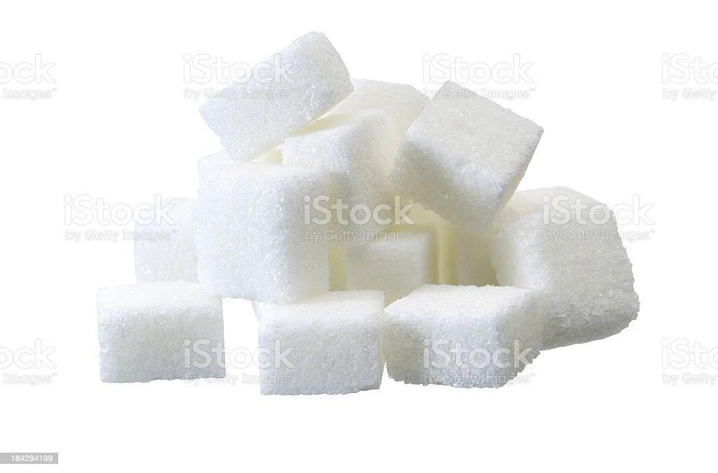 lump sugar pile stock photo