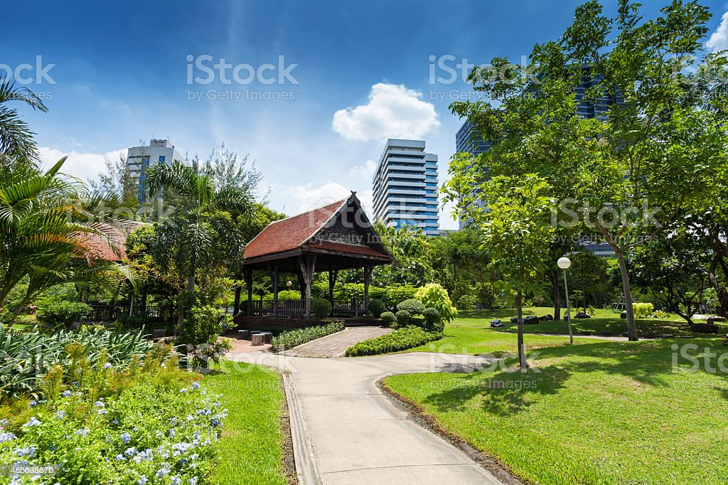 Lumphini Park; Bangkok stock photo