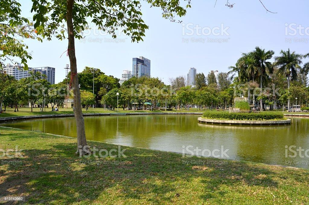 Lumpini park in Bangkok, Thailand stock photo