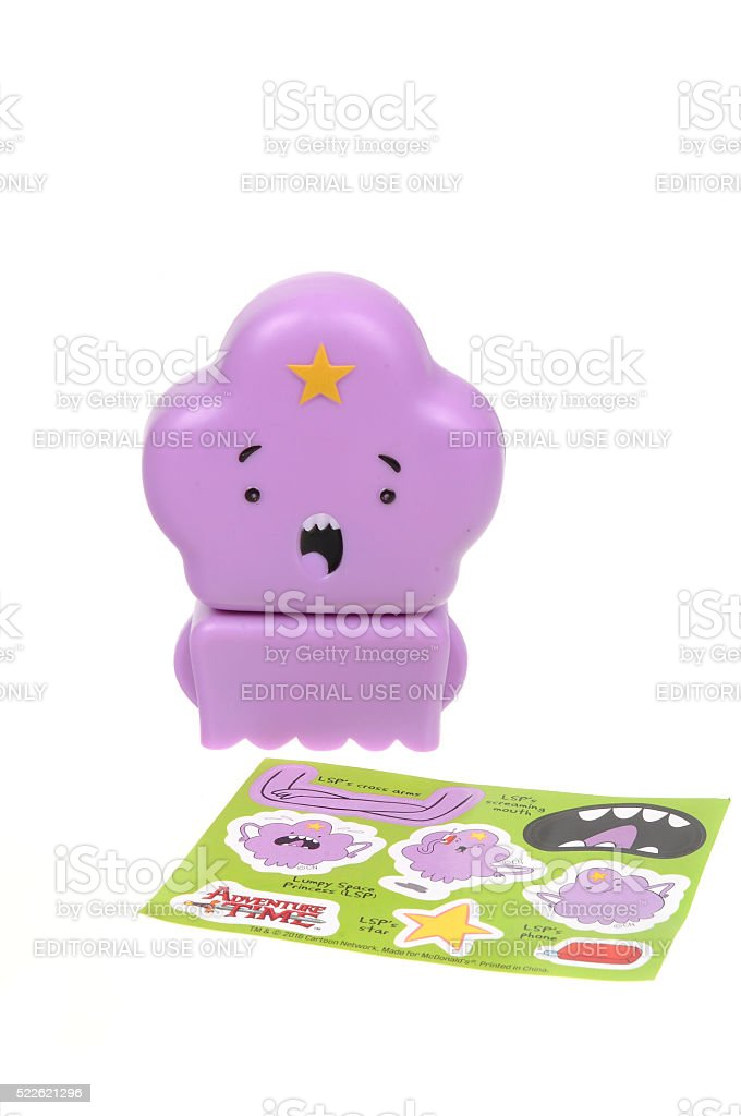 Lumpy Space Princess 2016 Happy Meal Toy stock photo