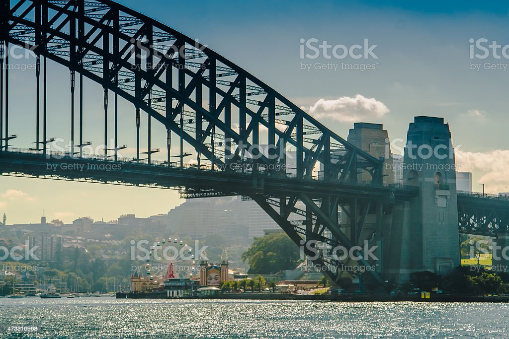 Luna Park And Harbour Bridge stock photo