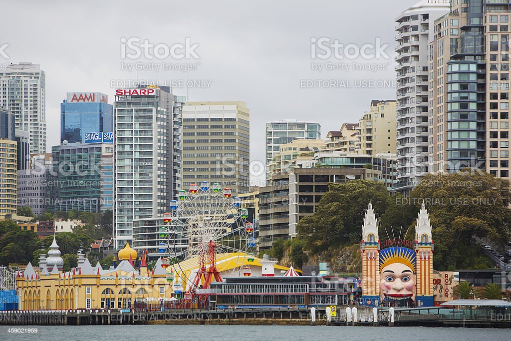 Luna Park and North Sydney stock photo