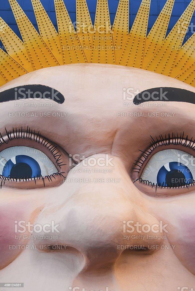 Luna Park - Face stock photo