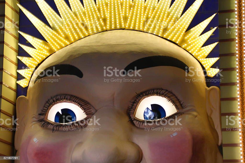 Luna Park Face stock photo