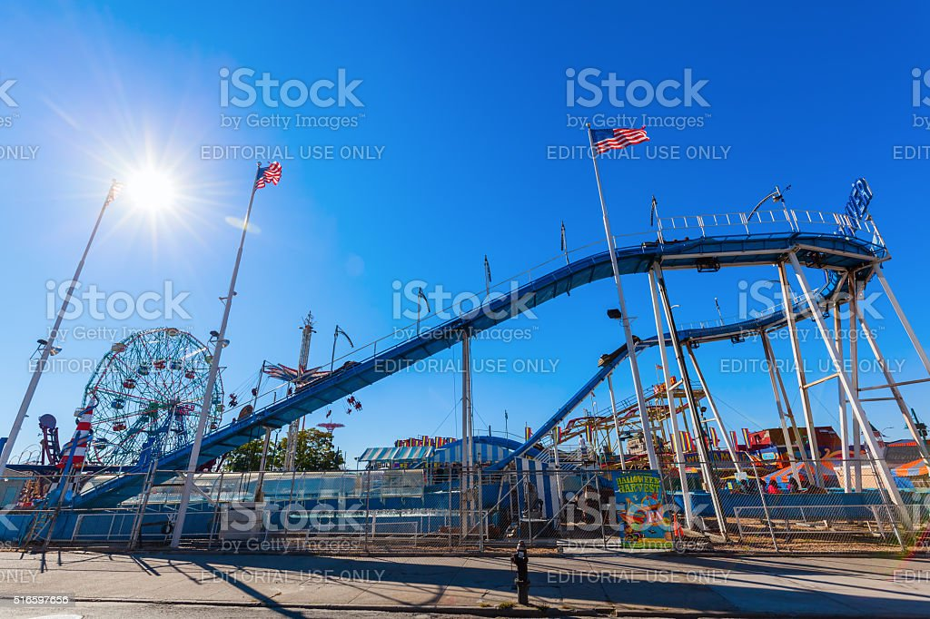 Luna Park in Coney Island, NYC stock photo