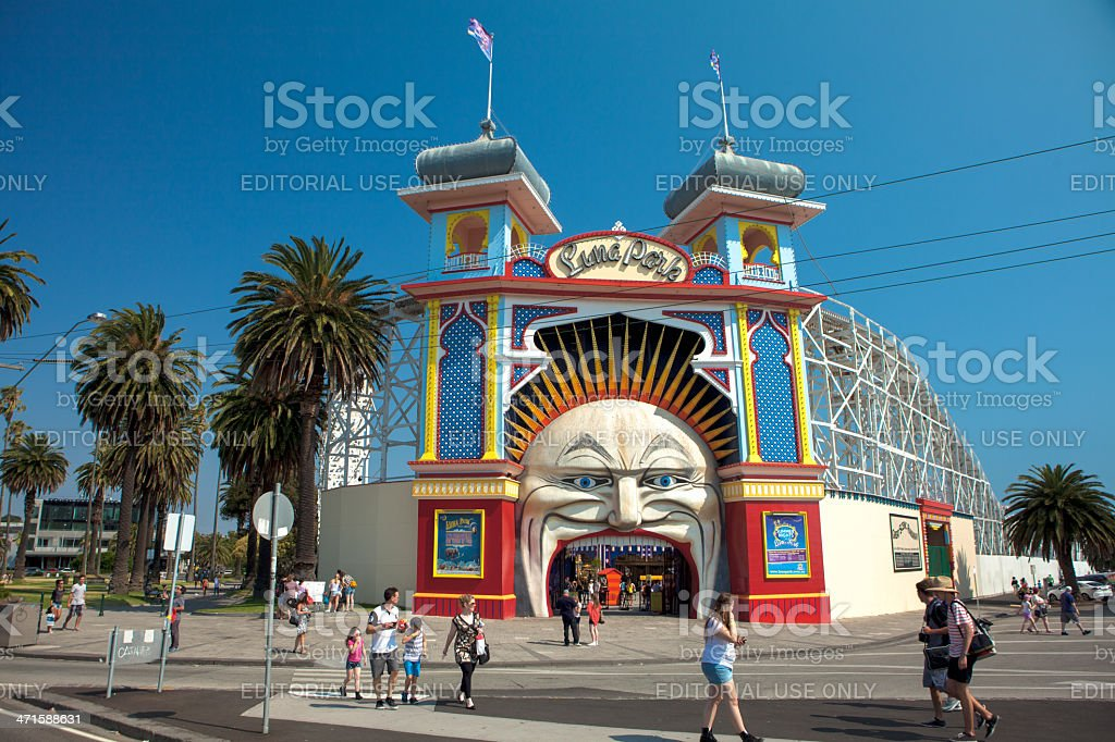 Luna Park - Melbourne, Australia stock photo