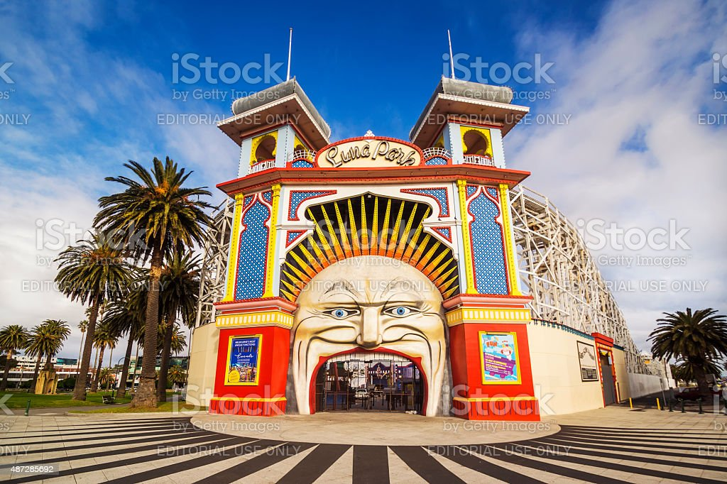 Luna Park Melbourne stock photo