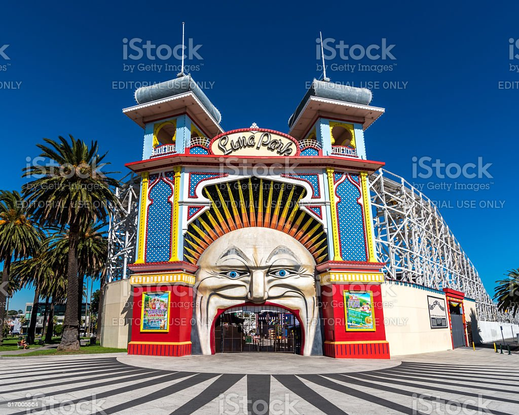 Luna Park, Melbourne stock photo