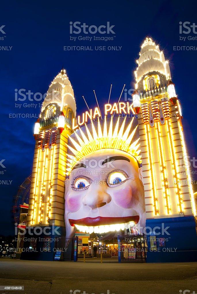 Luna Park - Night stock photo