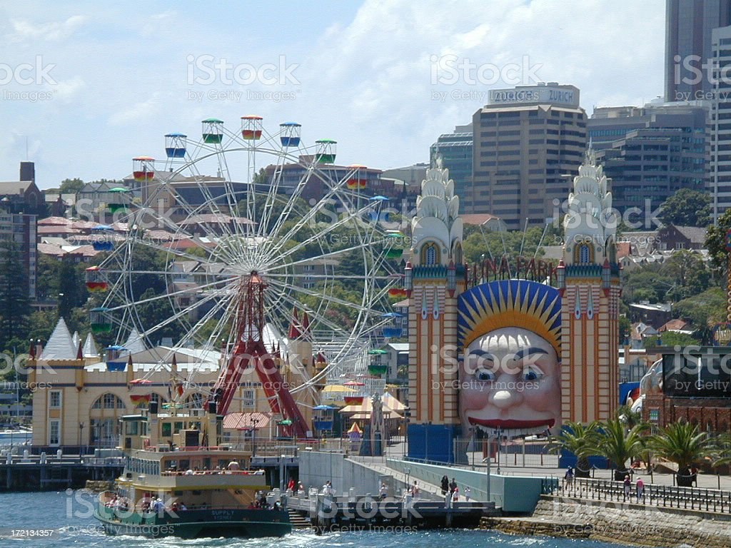 Luna Park Sydney royalty-free stock photo