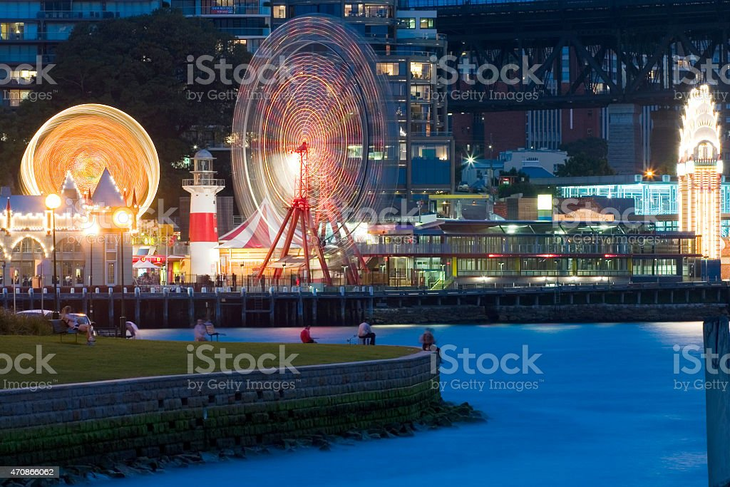 Luna Park Sydney stock photo