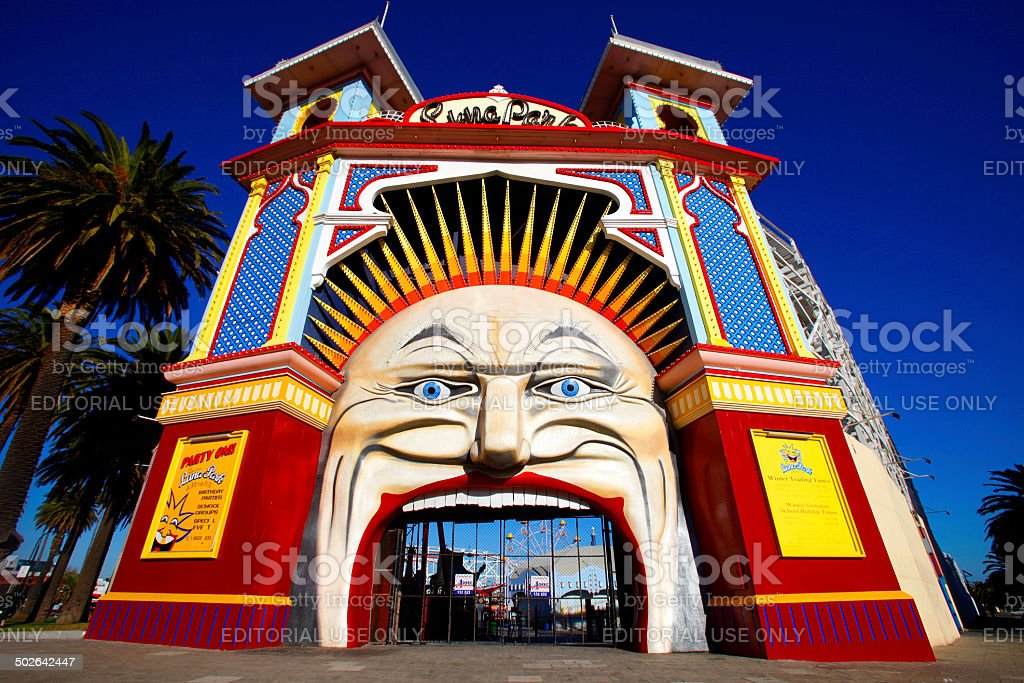 Luna Park, Victoria, Australia stock photo