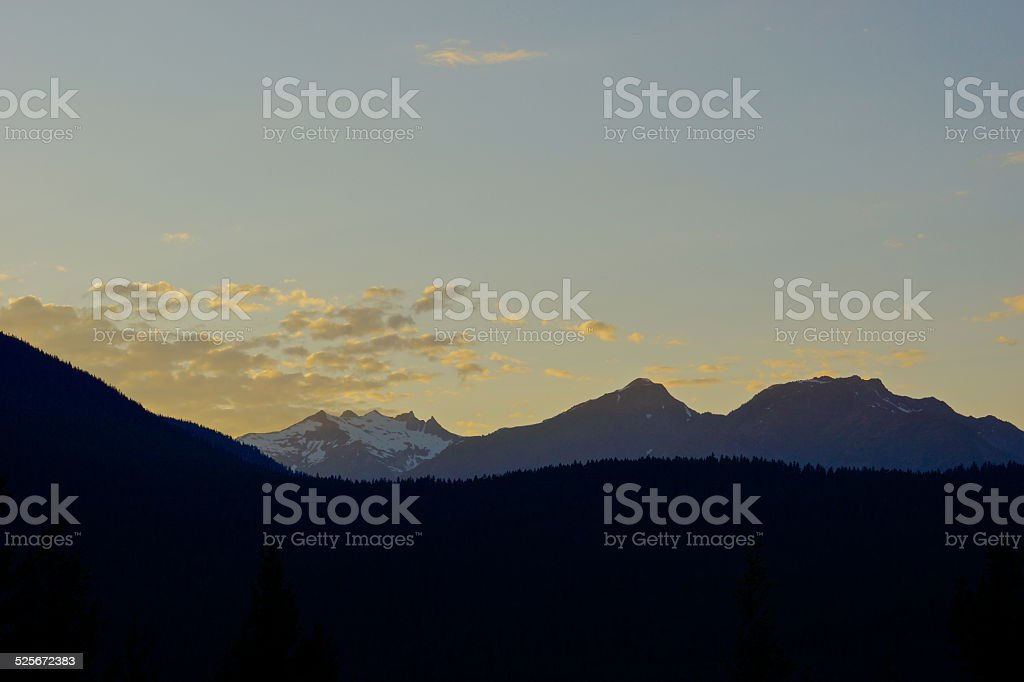 Luna/Prophet Peaks Sunset stock photo