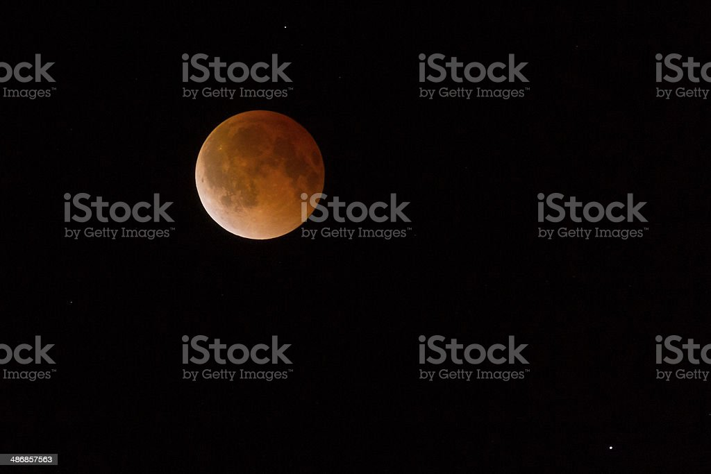Lunar Eclipse Blood Moon Tetrad Passover stock photo