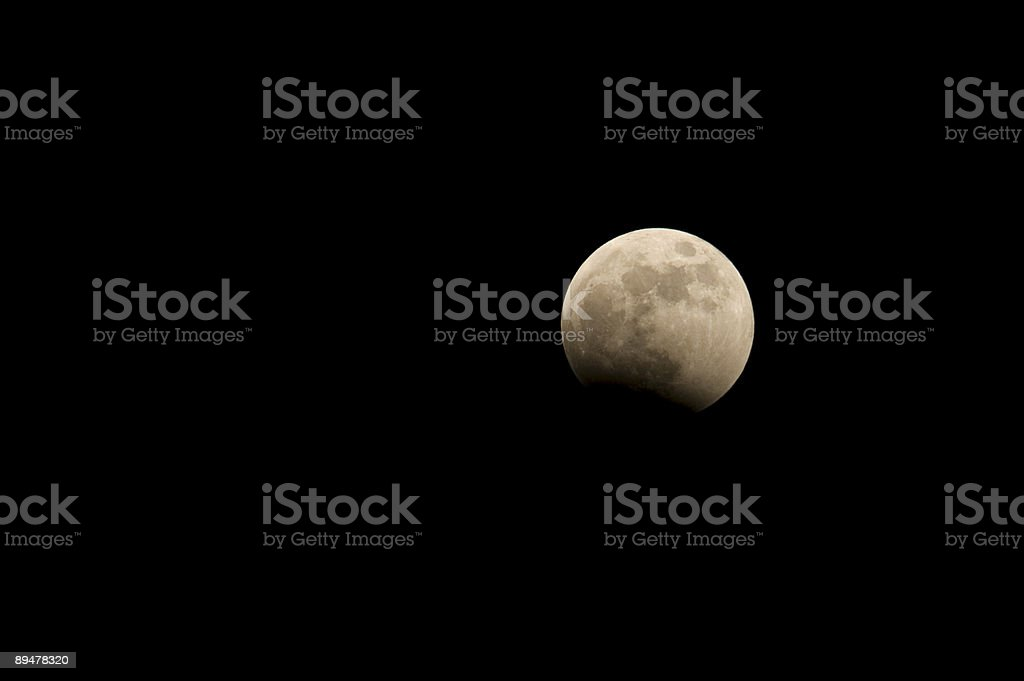 Lunar Eclipse Episode 0.5 royalty-free stock photo
