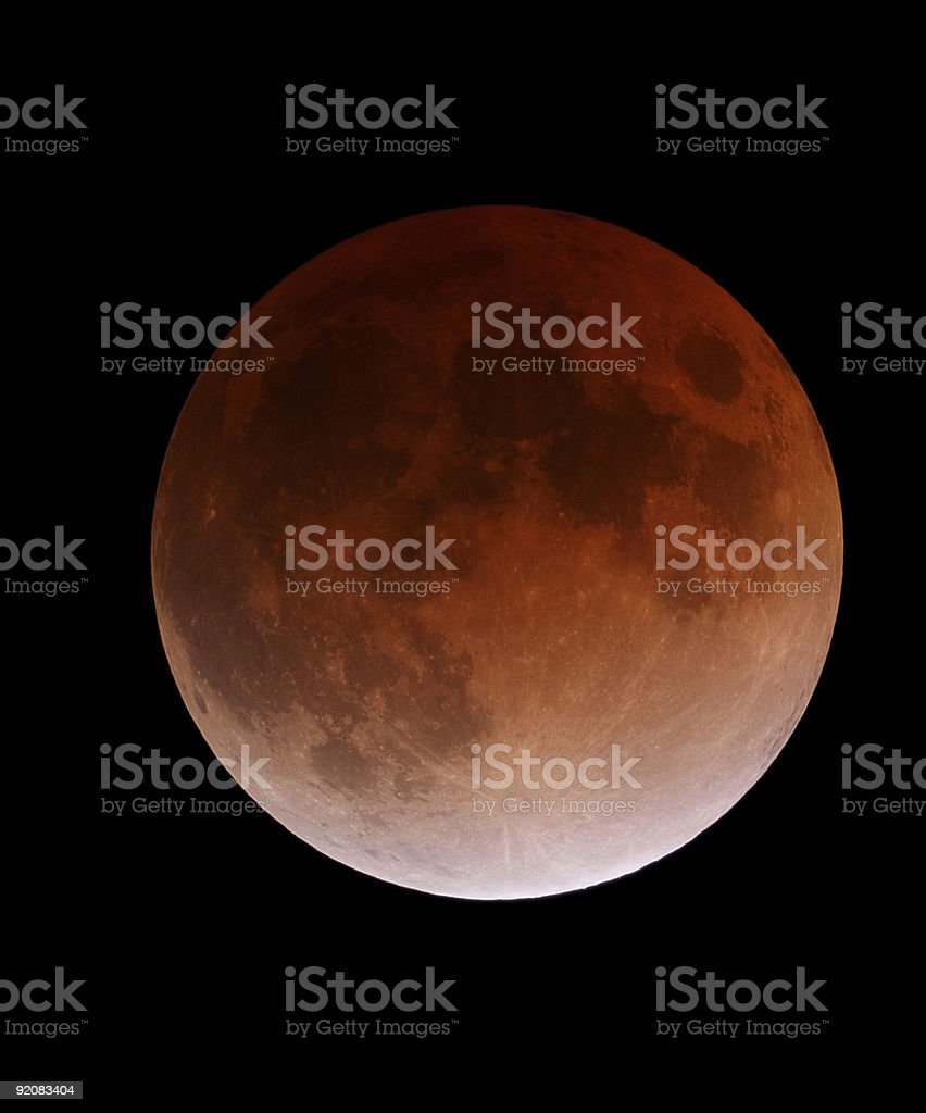 Lunar Eclipse in color royalty-free stock photo