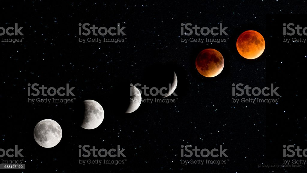 Lunar eclipse stock photo