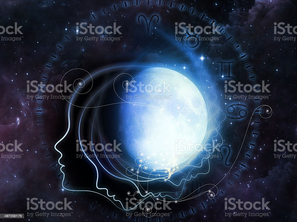 Lunar Geometry royalty-free stock photo