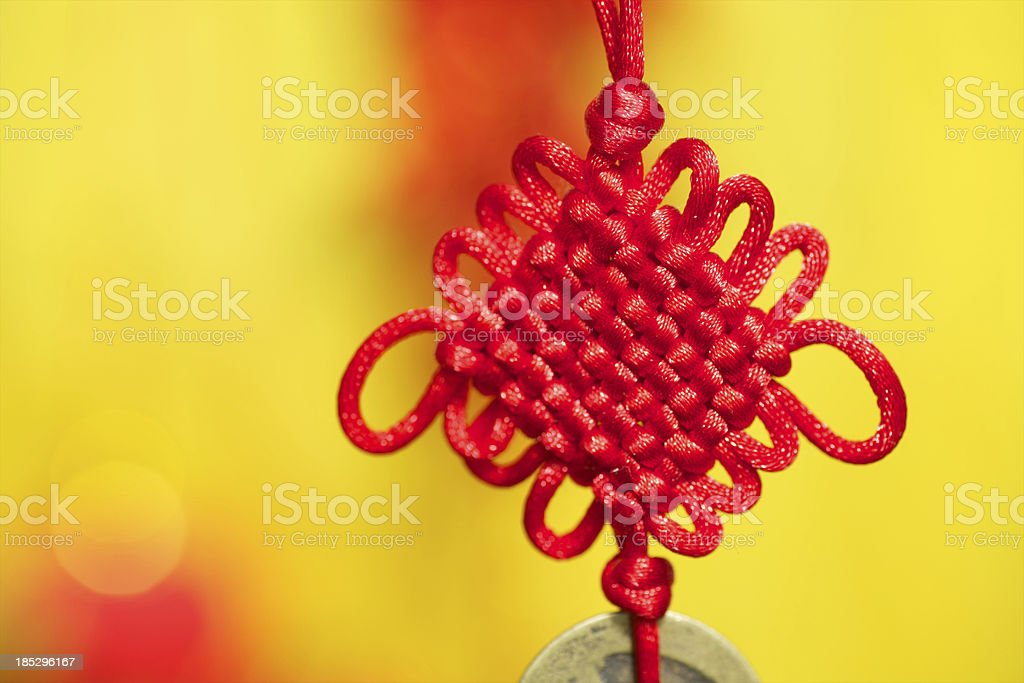 Lunar New Year decorations stock photo