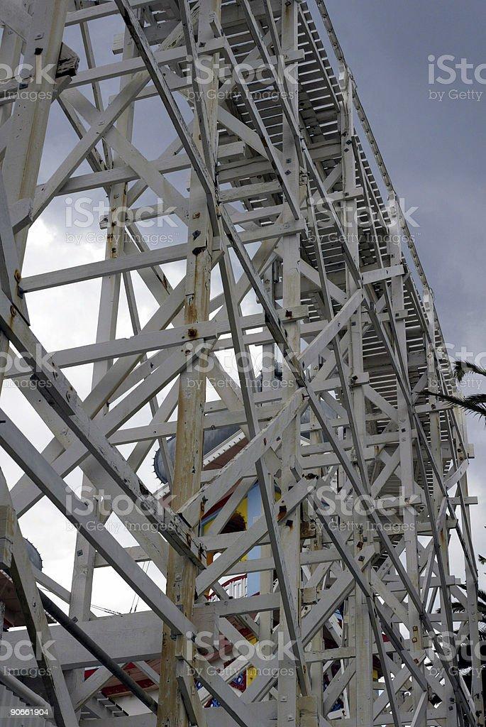 Lunar Park ride royalty-free stock photo