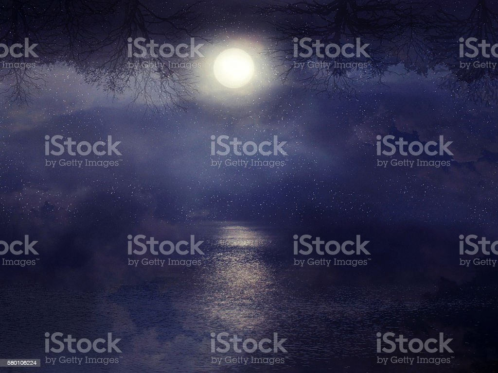 lunar path stock photo